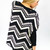 Boxy Knit Chevron Sweater - uoionline.com: Women's Clothing Boutique