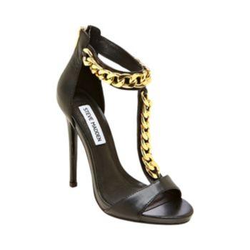 MAGNETIK BLACK women's dress high t-strap - Steve Madden