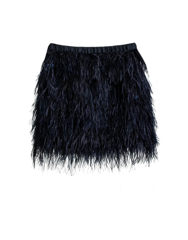 skirt navy navy blue black feather skirt feathers ostrich party new year's eve texture