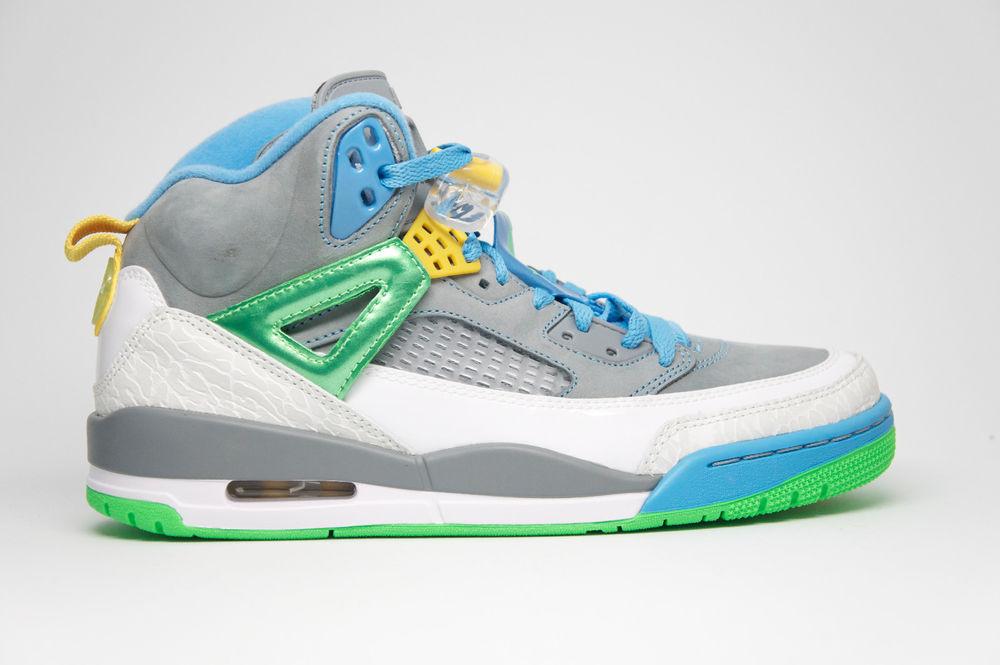 Nike Air Jordan Spizike Easter Stealth Grey Poison Green Blue Blitz 315371 056   eBay