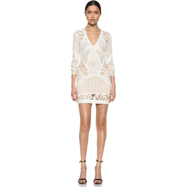 IRO Rovea Lace Dress in Ecru - Polyvore