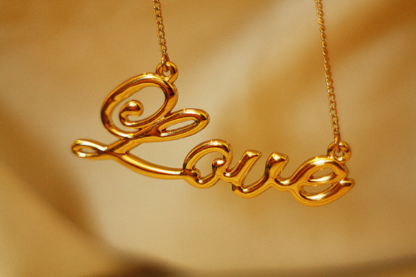 jewels necklace gold cute love gold necklace jewelry