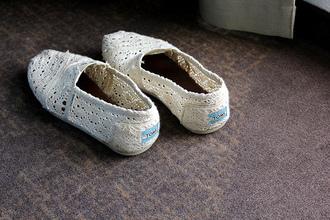 flat toms crochet white shoes shoes