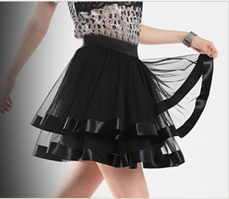 Women Black Tutu Mini Skirt Sexy tulle Ballet Belly Dance clubwear Saia Spring Summer Girl Casual femininas Skirts free shipping-in Skirts from Apparel & Accessories on Aliexpress.com