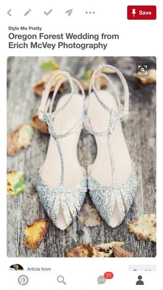 shoes silver glitter flats sandals.