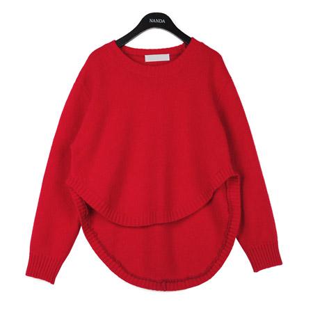 High-Low Angora Knit Sweater