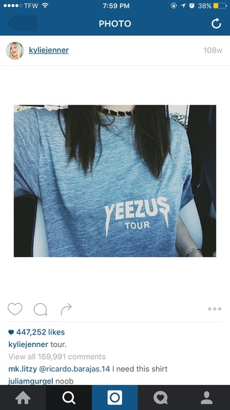 shirt kanye west yeezy yeezus t-shirt grunge