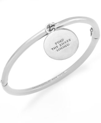 kate spade new york Bracelet, Gold-Tone Hinged Charm Bangle Bracelet - Fashion Jewelry - Jewelry & Watches - Macy's