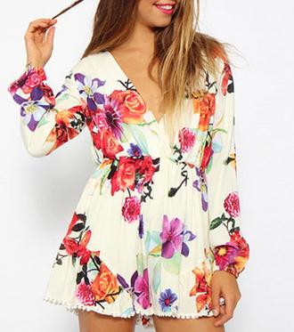 Love Me Floral Playsuit - Juicy Wardrobe