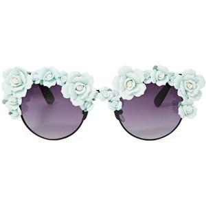 floral sunglasses - Polyvore