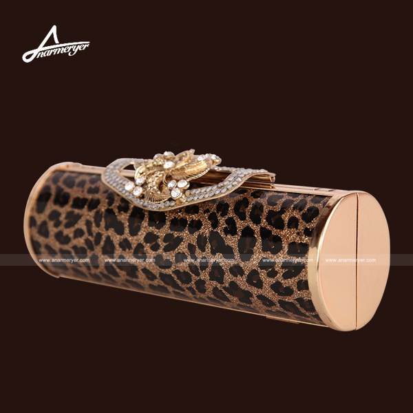 2013 gold leopard print luxury evening bag day clutch-inEvening Bags from Luggage & Bags on Aliexpress.com