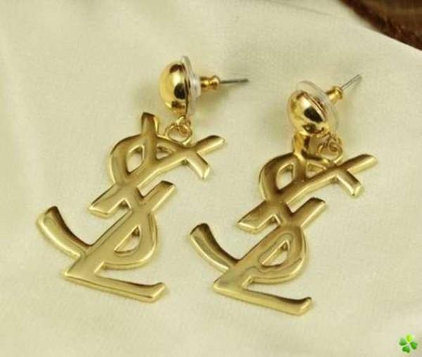 jewels yves saint laurent earrings gold