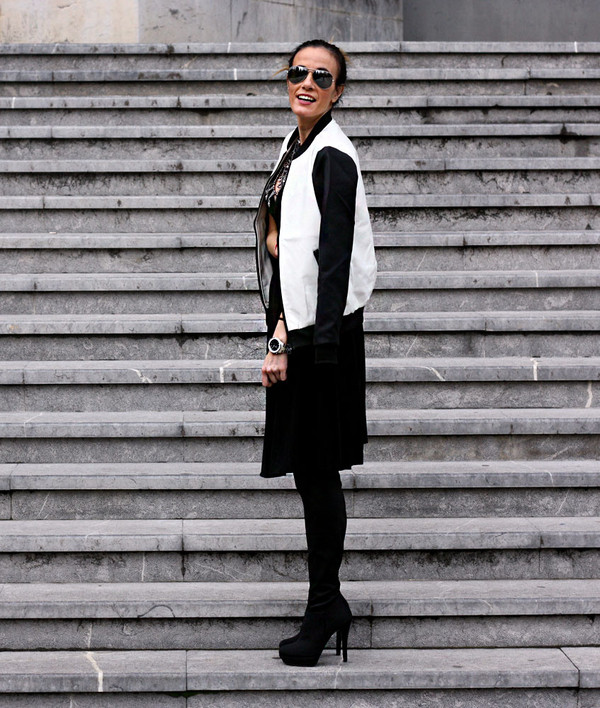 rebel attitude jacket dress t-shirt jewels shoes