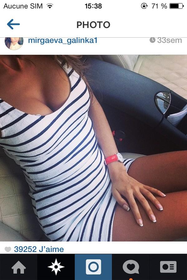 dress black and white blue and white stripes stripes