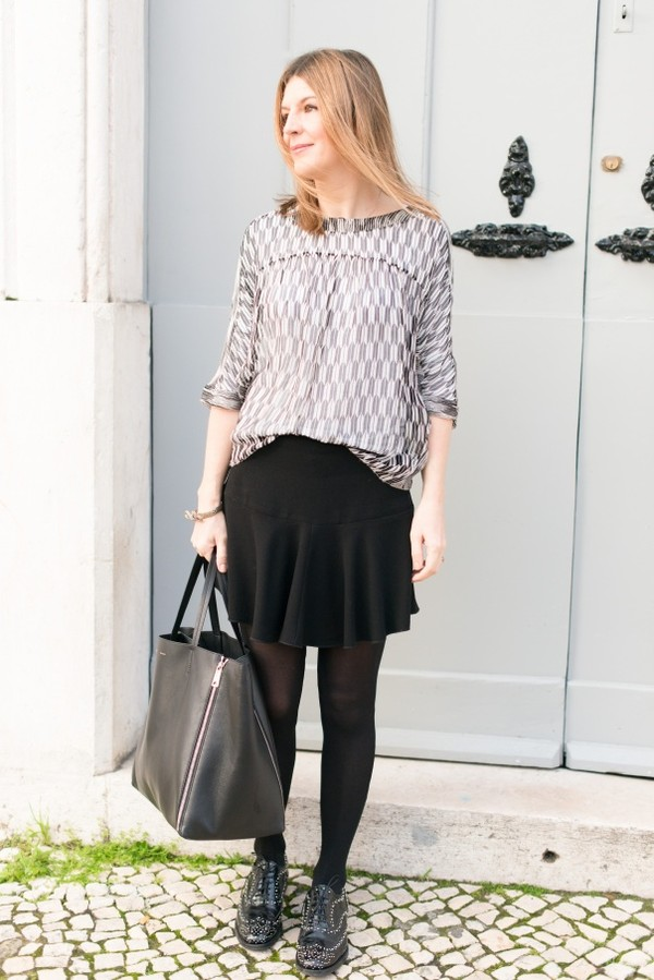 the working girl bag shoes skirt jewels