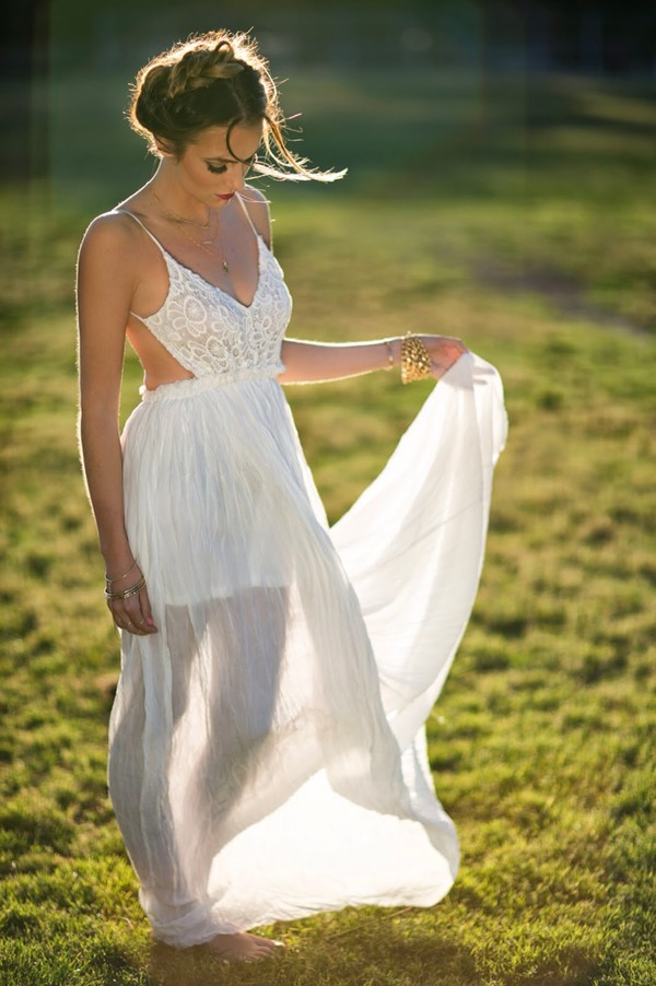 dress hippie white dress tank dress