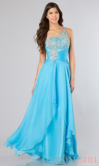 Prom Dresses, Celebrity Dresses, Sexy Evening Gowns - PromGirl: Floor Length One Shoulder Dress