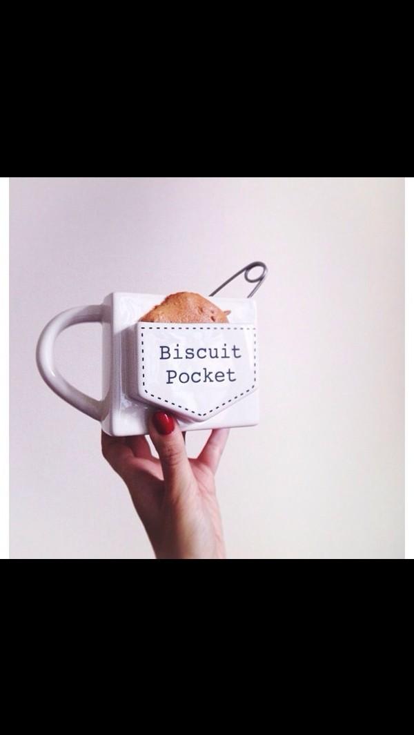 jewels mug cup cool biscuit holder biscuit milk white black brown trendy