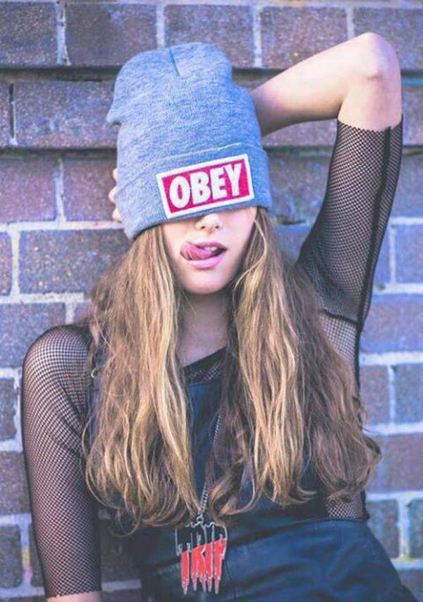 hat obey beanie obey beanie beanie grey