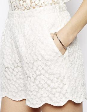 Little White Lies   Little White Lies Daisy Lace Shorts at ASOS