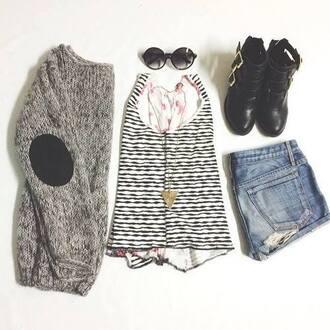 gris laine sweater