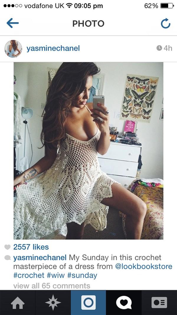 crochet crochet dress cute dress summer dress white dress