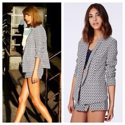Heart It Want It Taylor Swift Matching Blazer Shorts Set