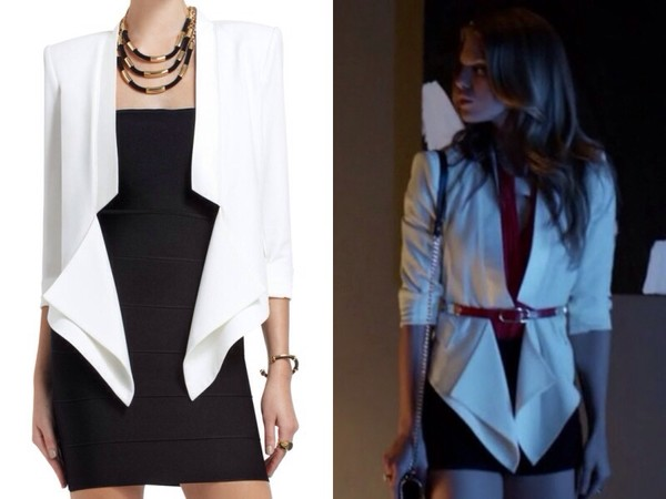 jacket white blazer 90210 naomi clark annalynne mccord perfection season 5