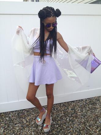 skirt shirt top purple style high waisted skirt crop tops bustier cute dress fashion black girls killin it african american cute cardigan jumpsuit jewels socks shoes