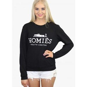 Black Sweatshirt w/Fashion Meme