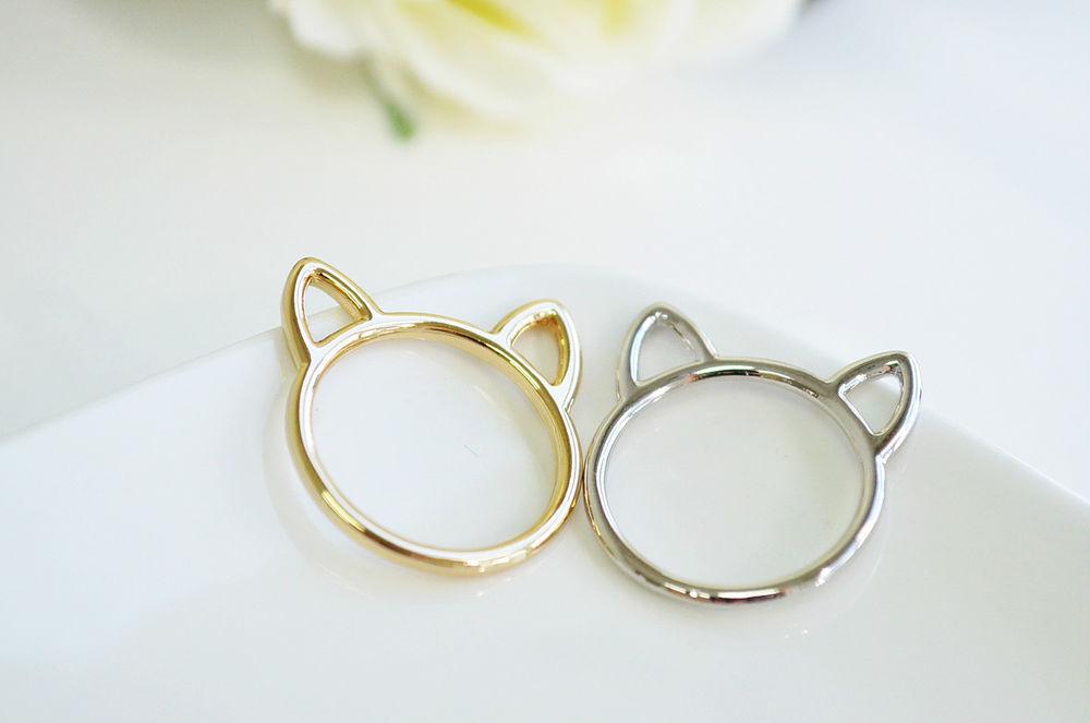 Cats Ear Ring Cat Ring Animal Ring Novelty Ring | eBay