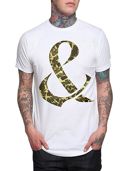 Of Mice & Men Camo Ampersand T-Shirt | Hot Topic