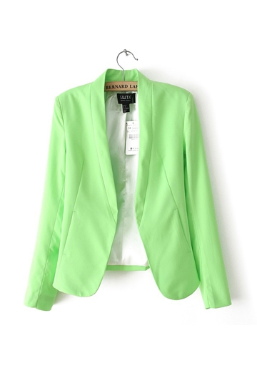 Candy Color Slim and Thin Blazer [FFBI0245]- US$30.50 - PersunMall.com