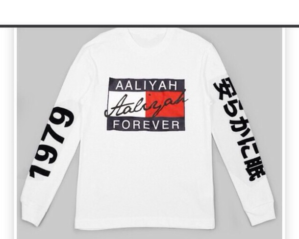 aaliyah tommy hilfiger sweater