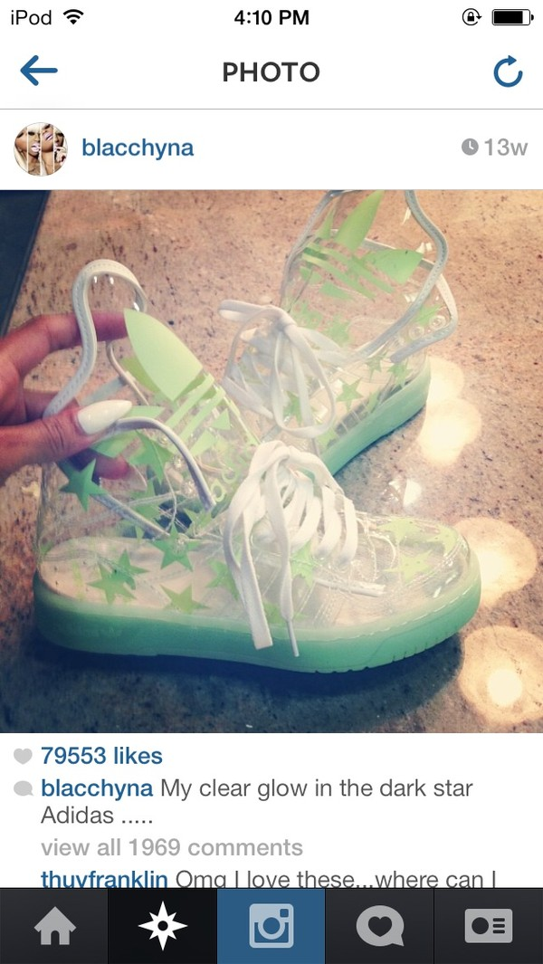 shoes plastic adidas wings clear boots