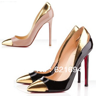new items prom shoes woman pointed toe red bottom red sole high heel black sexy women party pumps sandals wholesale-inPumps from Shoes on Aliexpress.com