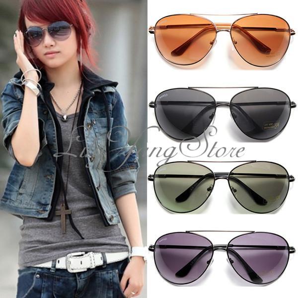 Men Women Retro Classic Shades Lenses Aviator Glasses Frame Eyewear Sunglasses   eBay