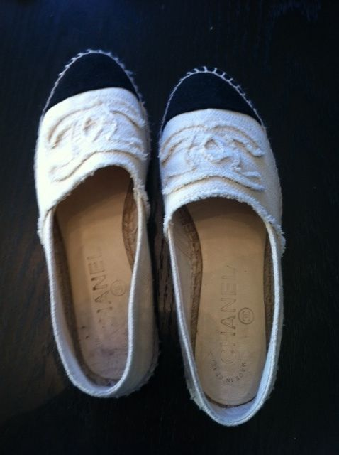 Chanel Canvas Espadrilles Size 36 | eBay