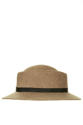 Flat Brim Pork Pie Hat - Hats  - Bags & Accessories  - Topshop USA