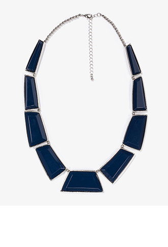 Faceted Faux Stone Necklace | FOREVER21 - 1024614865