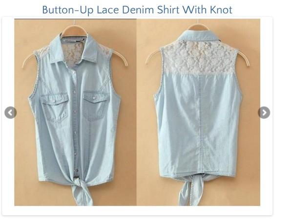 t-shirt lace farm denim tie
