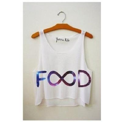Galaxy Food Infinity Shirt   Clothia