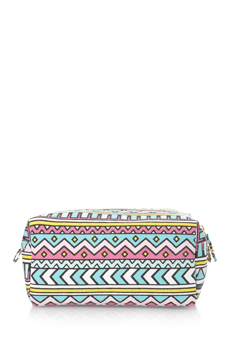 Midsize Tribal Print Cosmetic Bag | FOREVER21 - 1000085590