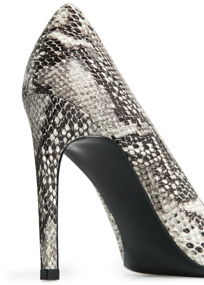 MANGO - Accessories - Shoes - Snakeskin leather stiletto shoes