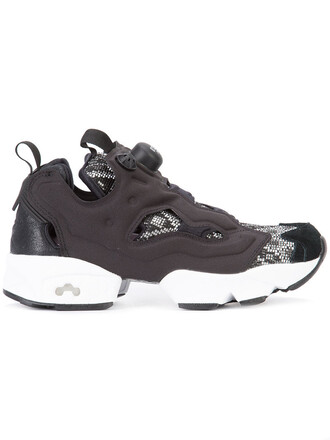 women chunky sole sneakers black shoes