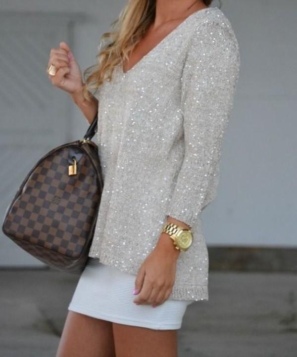 shirt glitter gold skirt blouse silver blouse