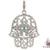 Ladies Turquoise and Diamond Hamsa Pendant 20841
