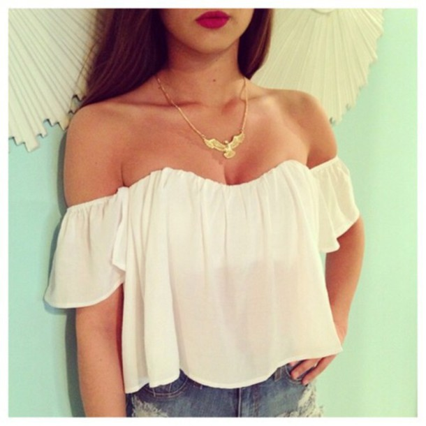 top white shirt blouse outfit clothes