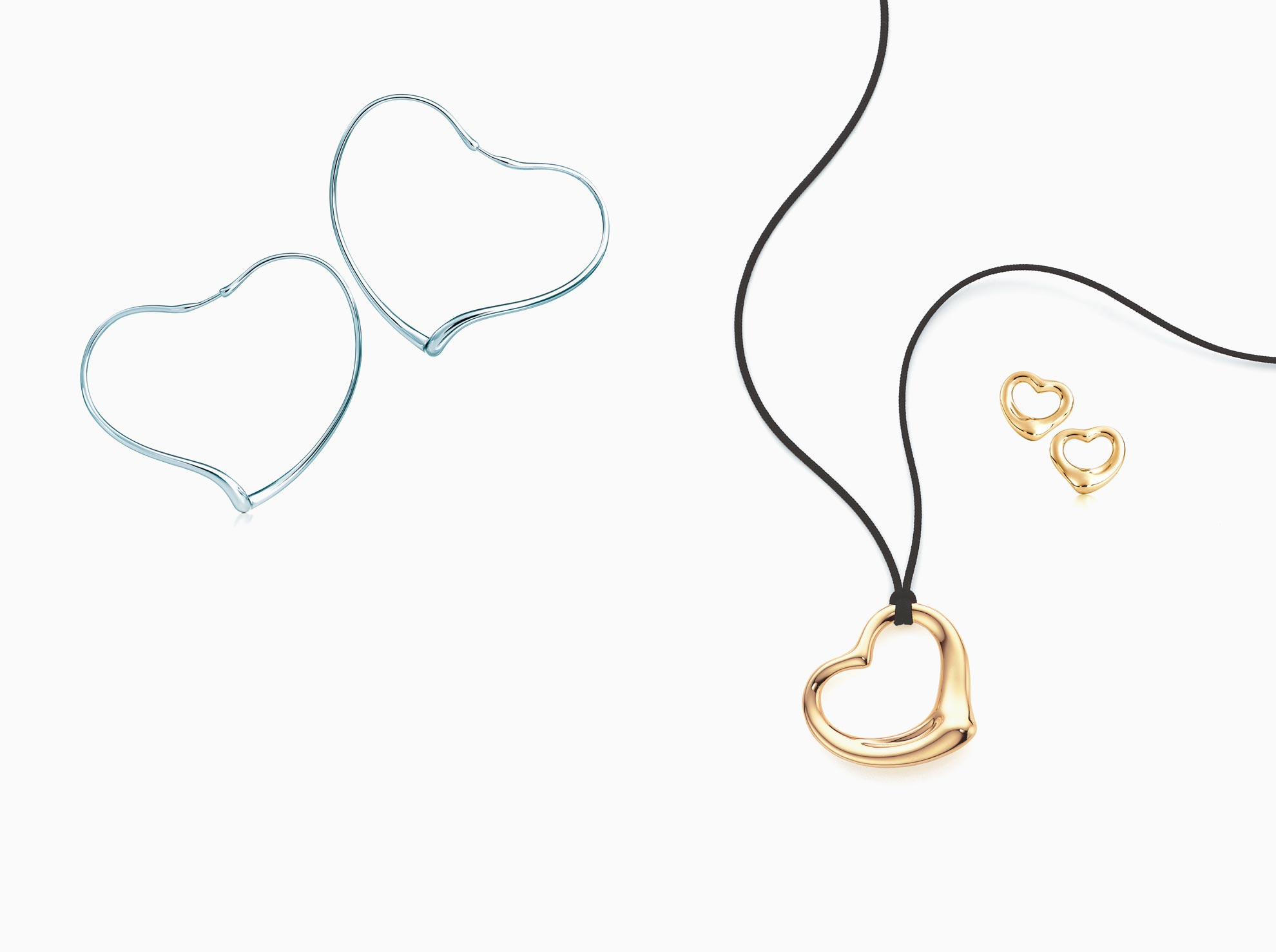 Elsa Peretti® Open Heart pendant in sterling silver.                                 Tiffany & Co.