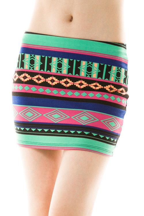 Aztec Print Mini Skirt | eBay